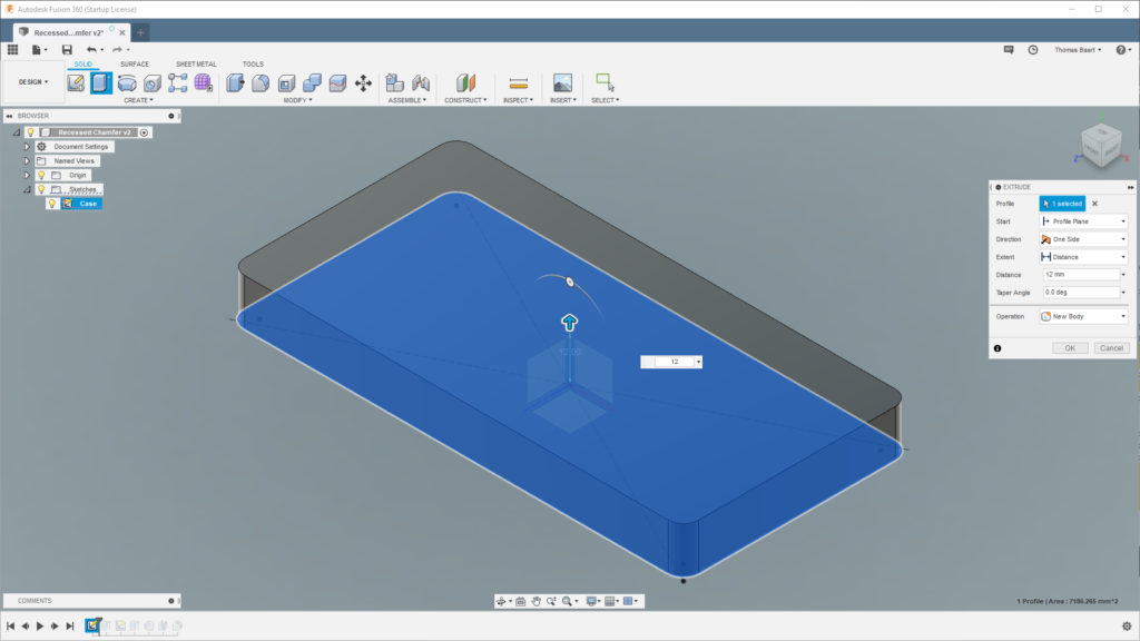 Fusion 360 Patterns: Recessed Chamfer – Thomas Baart
